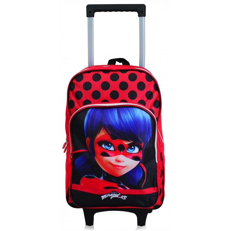 Setino · Dětský cestovní kufr na kolečkách (trolley) Kouzelná beruška - Tales of Ladybug - rozměr hlavní komory 47 x 32 x 16 cm