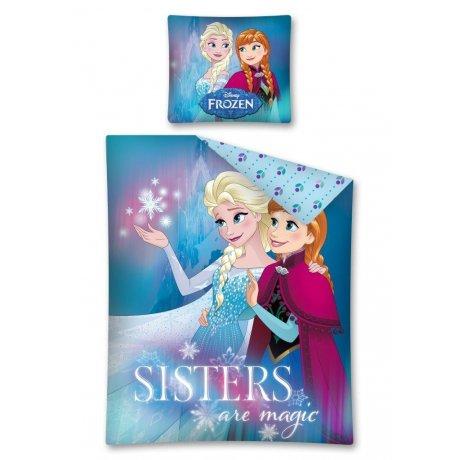 Bavlněné povlečení Ledové království - Sisters are magic