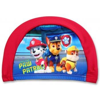 Dětská koupací čepice Tlapková patrola - červená