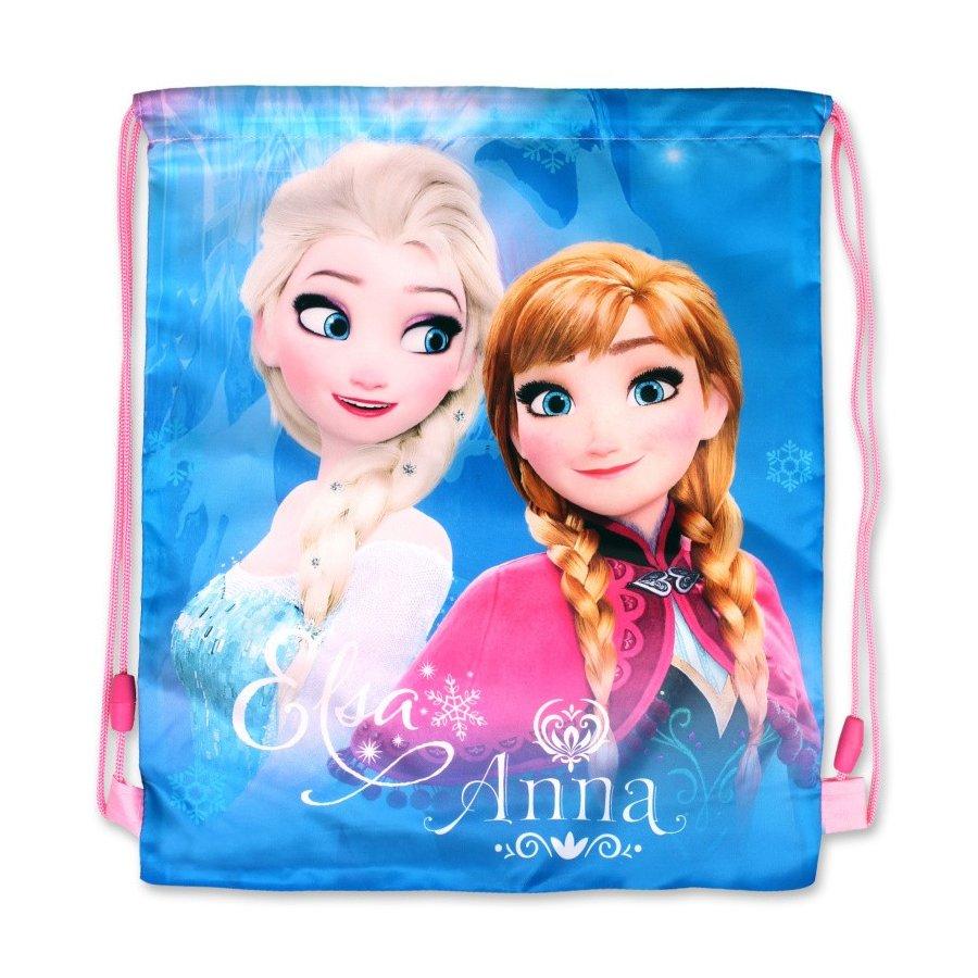 Setino · Sáček na přezůvky / vak na záda Ledové království - Frozen - s Annou a Elsou - 40 x 32 cm