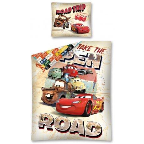 Bavlněné povlečení Auta - Take The open road