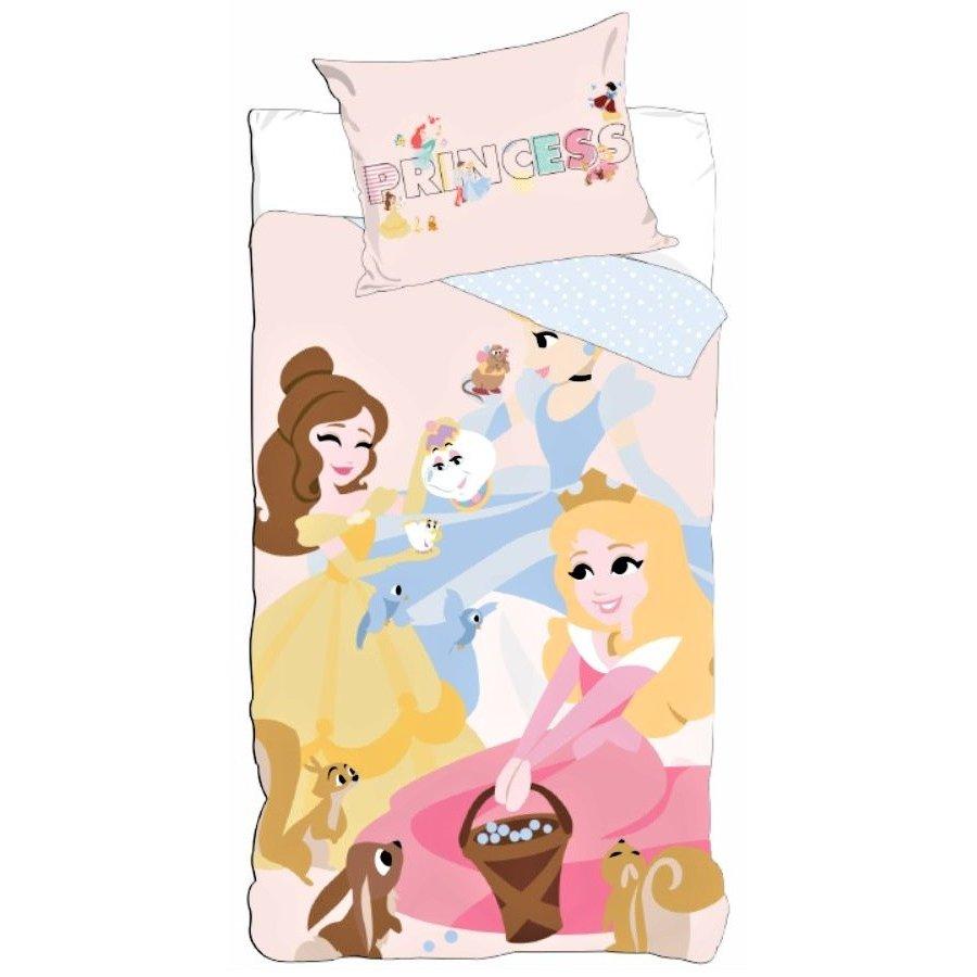 Setino · Bavlněné povlečení do dětské postýlky Princezny - Princess - Disney - 90 x 140 cm + 40 x 55 cm