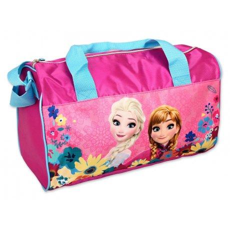 Sportovní taška Ledové království - tm. růžová