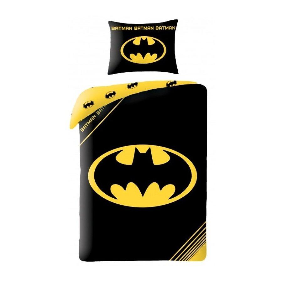 Halantex · Bavlněné ložní povlečení Batman - motiv logo Batmana - 70 x 90 + 140 x 200 cm