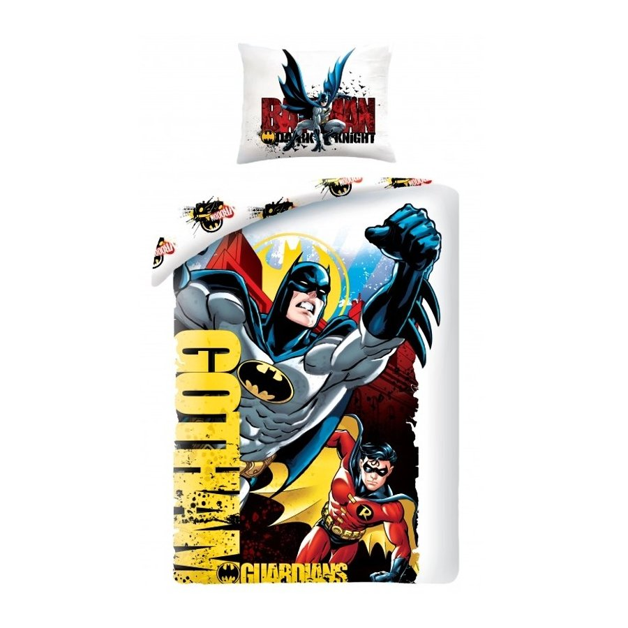 Halantex · Bavlněné povlečení Batman a Robin - Gotham guardians - 70 x 90 + 140 x 200 cm