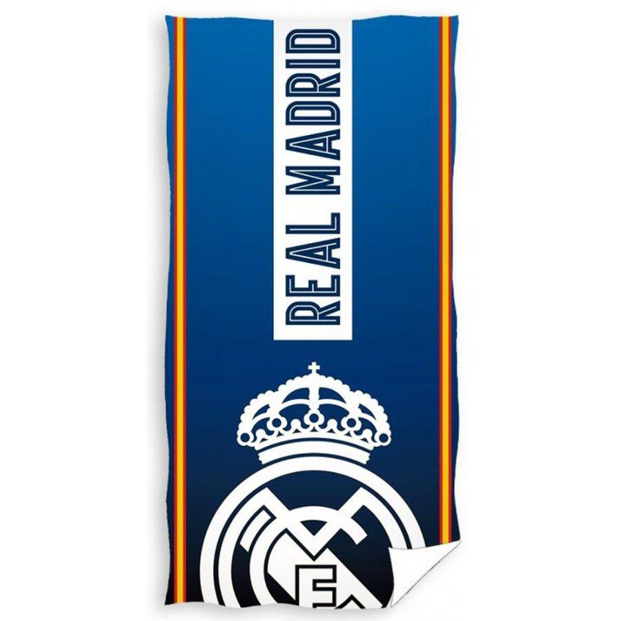 Carbotex · Fotbalová plážová osuška FC Real Mardid - motiv Corona - 70 x 140 cm • Oficiální produkt Real Madrid