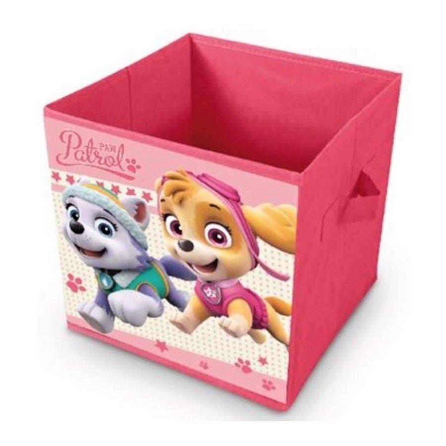 Eli · Úložný box na hračky Tlapková patrola - Paw Patrol - Everest a Skye - 28 x 28 x 28 cm