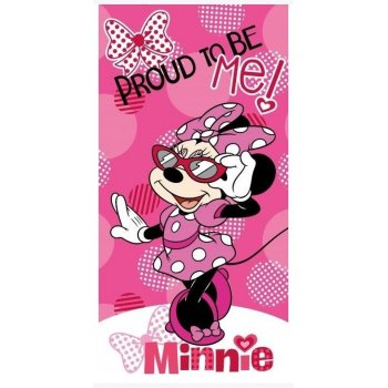 Plážová osuška Minnie Mouse - Proud to be me!