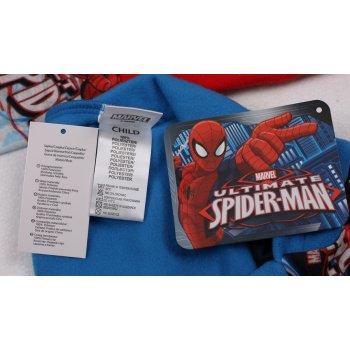 Chlapecká flísová čepice / kukla s nákrčníkem Spiderman - červená