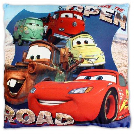 Setino · Polštář Auta - Cars - Blesk McQueen a kamarádi - 40 x 40 cm