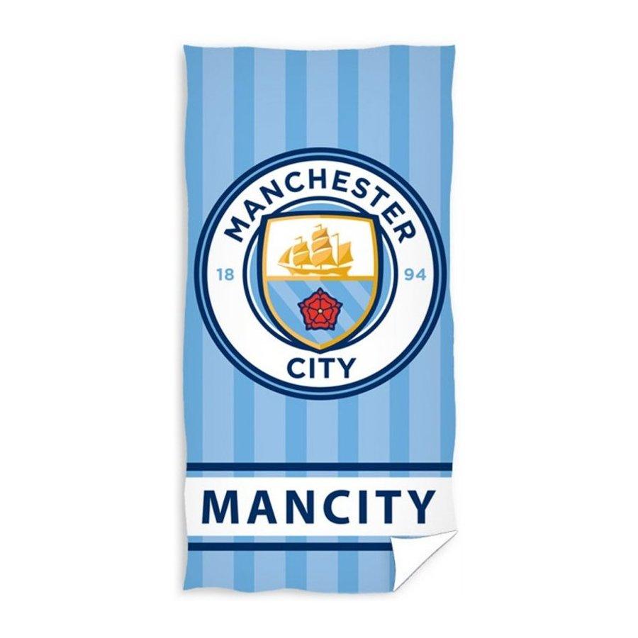 Carbotex · Fotbalová osuška FC Manchester City - Stripes - 100% bavlna - 70 x 140 cm