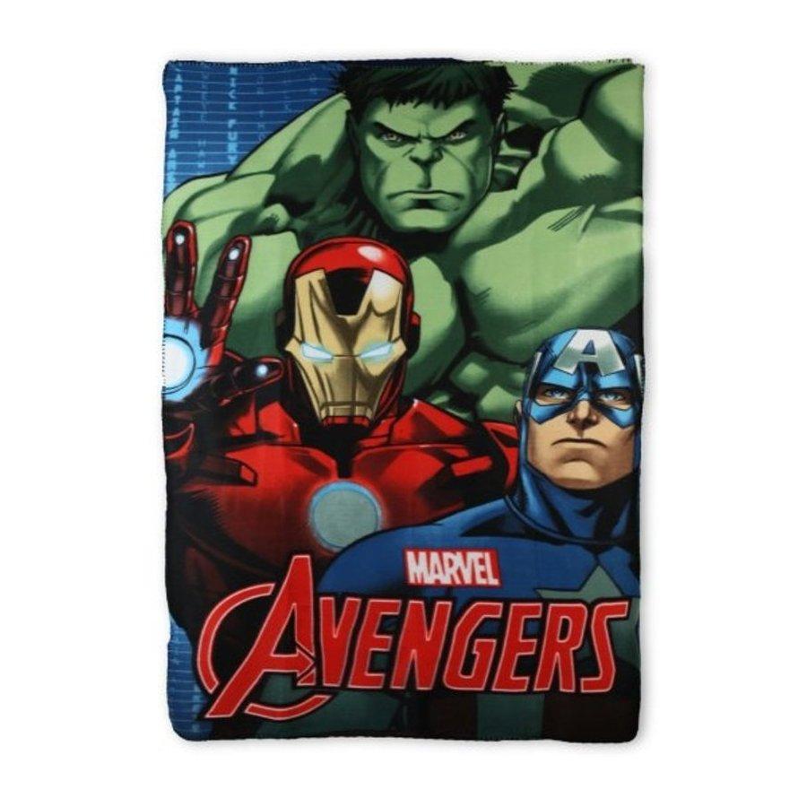 Setino · Fleecová / flísová deka Avengers - Hulk, Iron Man a Kapitán Amerika - 100 x 150 cm