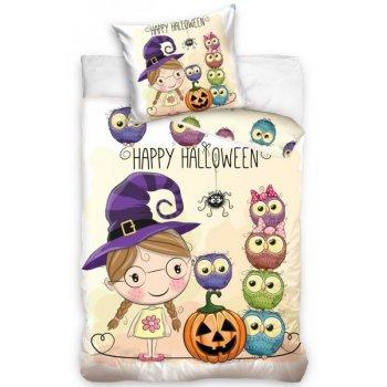Dětské bavlněné povlečení Malá čarodějka - Happy Halloween