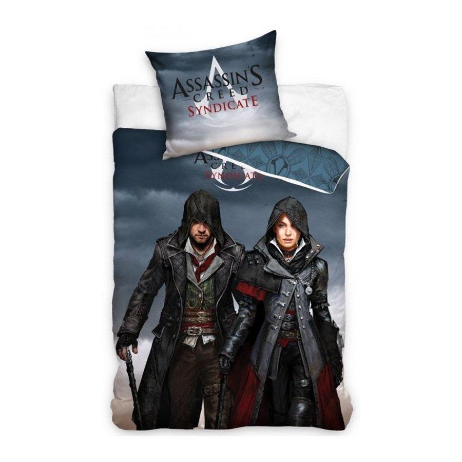 Carbotex · Ložní povlečení Assassin's Creed Syndicate - Jacob and Evie - 100% bavlna - 70x80 cm + 140x200 cm