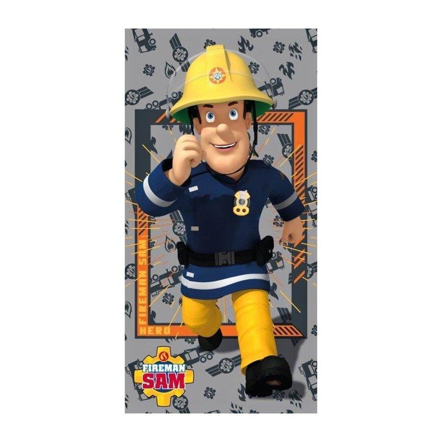 Faro · Dětská plážová osuška Požárník Sam - Hasič Sam - Fireman Sam - 100% bavlna - 70 x 140 cm