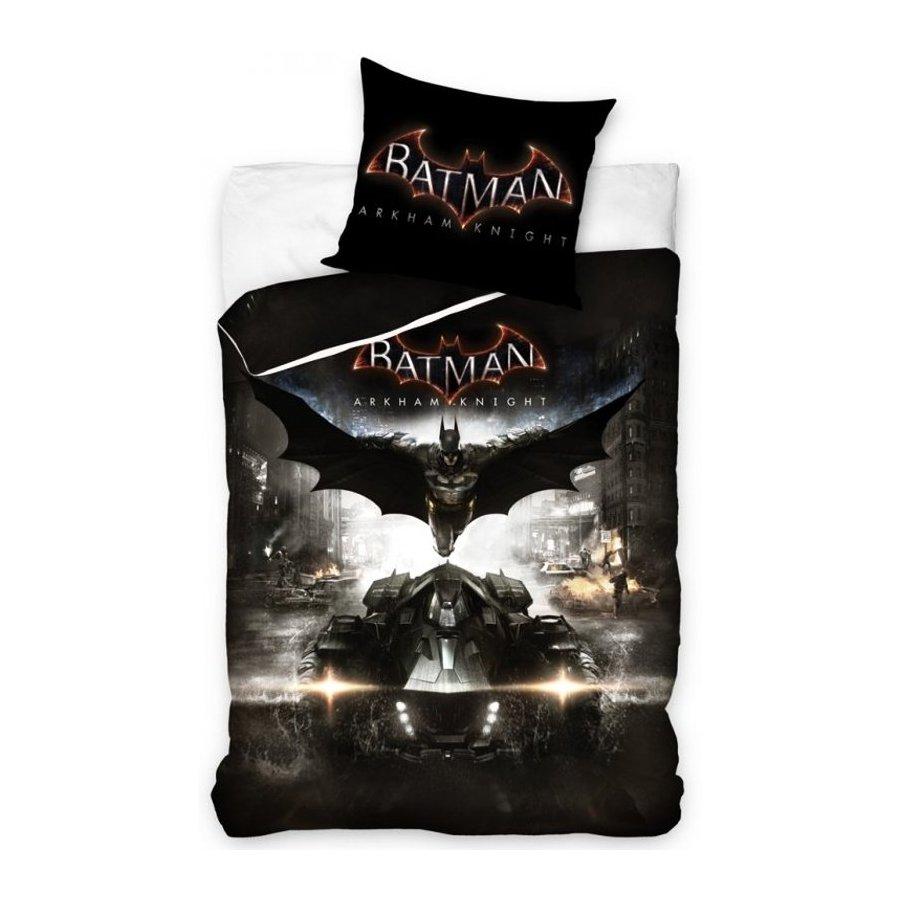 Carbotex · Ložní povlečení Batman Arkham Knight - 100% bavlna - 70x80 cm + 140x200 cm - Certifikát Oeko-Tex Standard 100