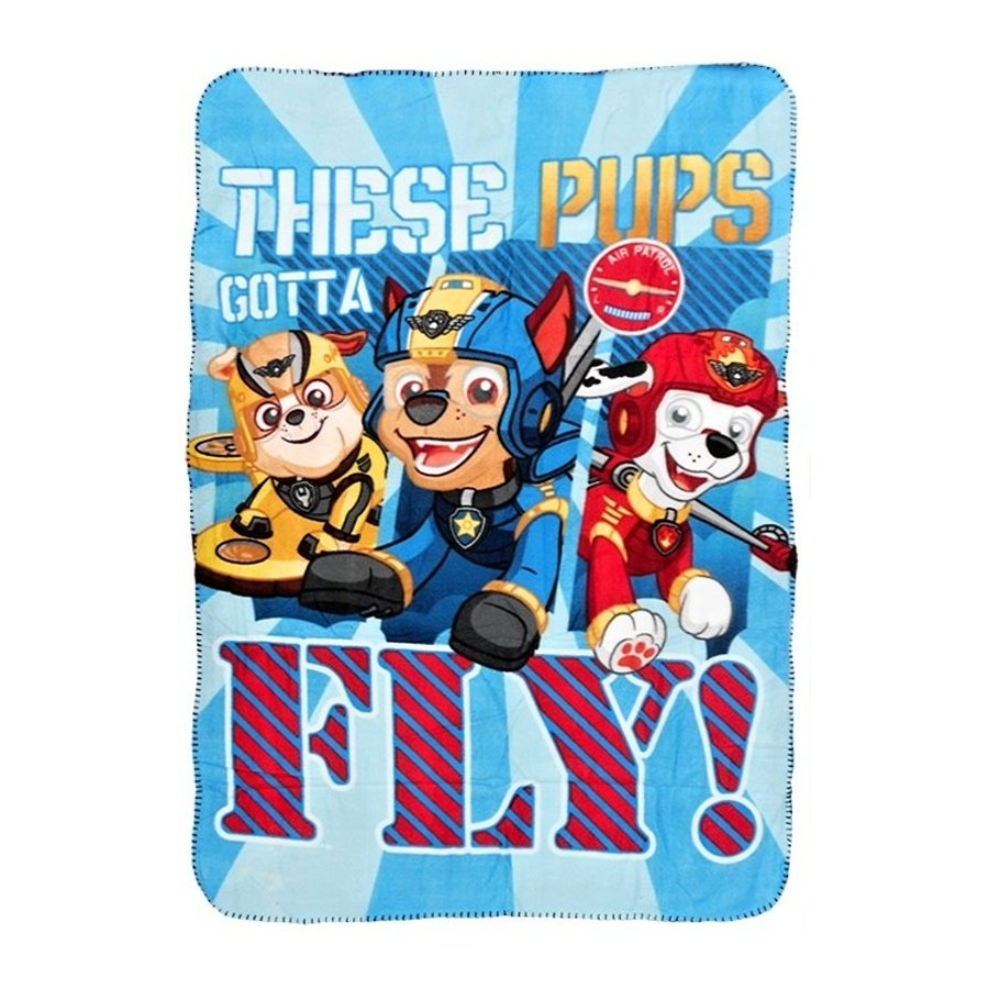 Fleecová deka Paw Patrol - These pups gotta fly!