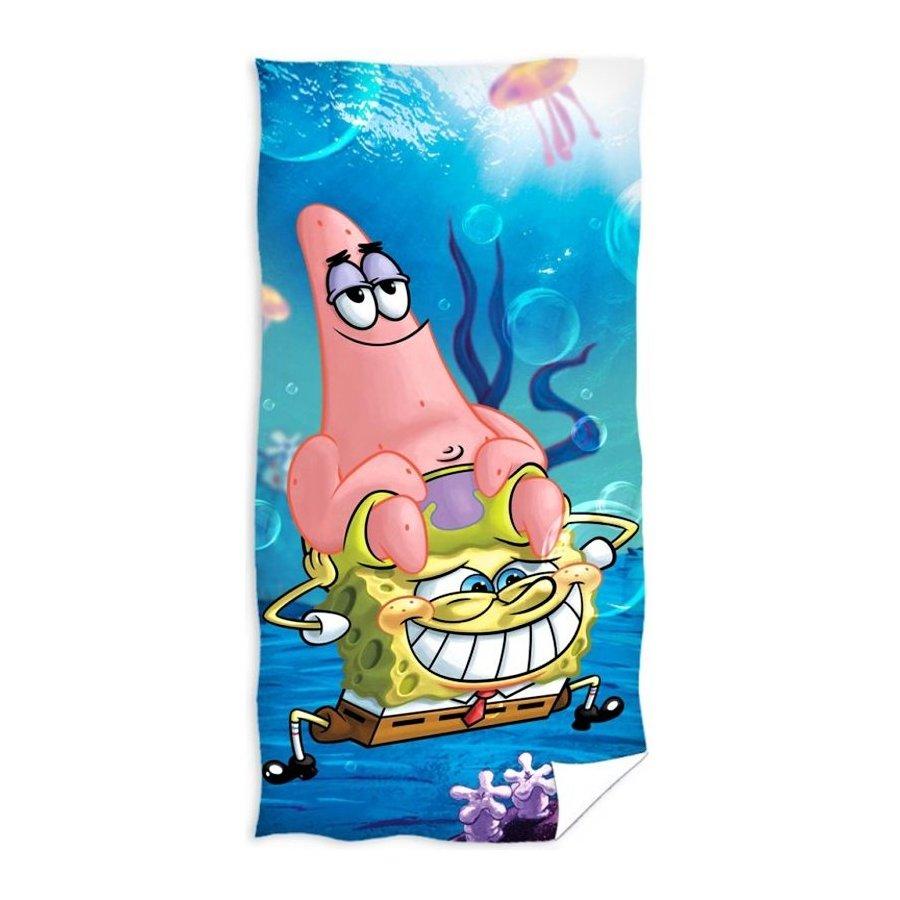 Dětská plážová osuška Spongebob a Patrik