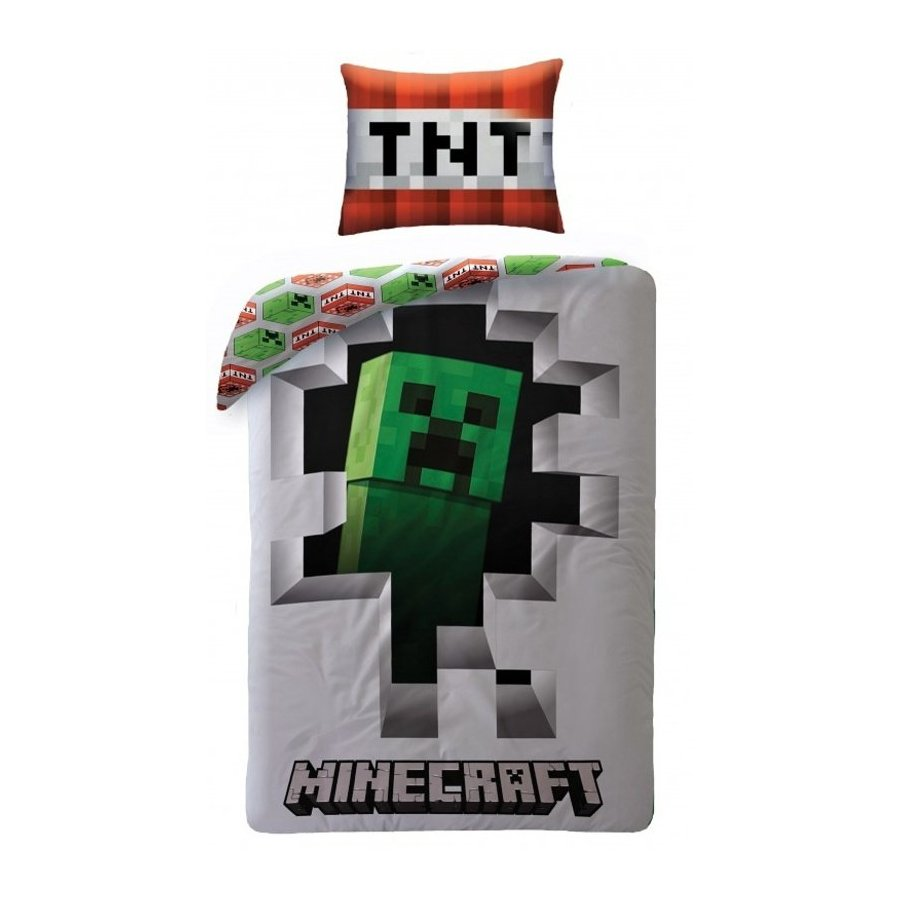 Halantex · Bavlněné povlečení Minecraft Creeper - 100% bavlna - 70x90 cm + 140x200 cm