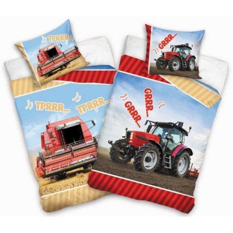 Dětské bavlněné povlečení traktor & kombajn