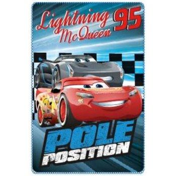 Fleecová deka Auta - Blesk McQueen - Pole position