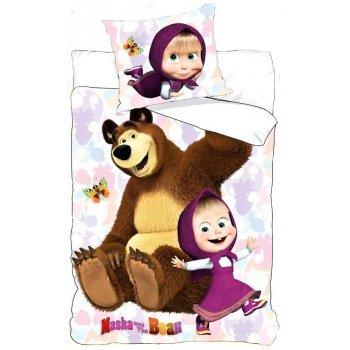 Bavlněné povlečení Máša a medvěd