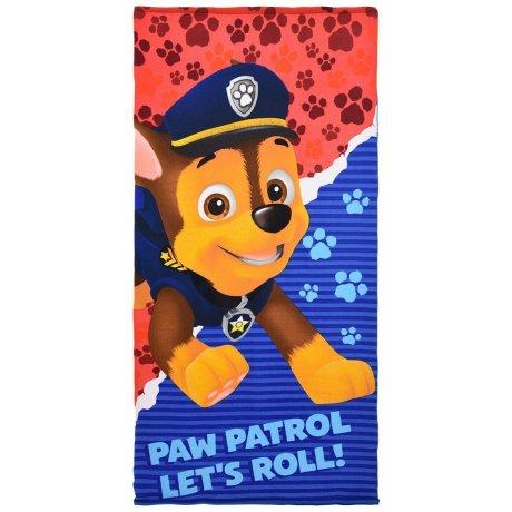 Plážová osuška Tlapková patrola - Paw Patrol Let's roll!