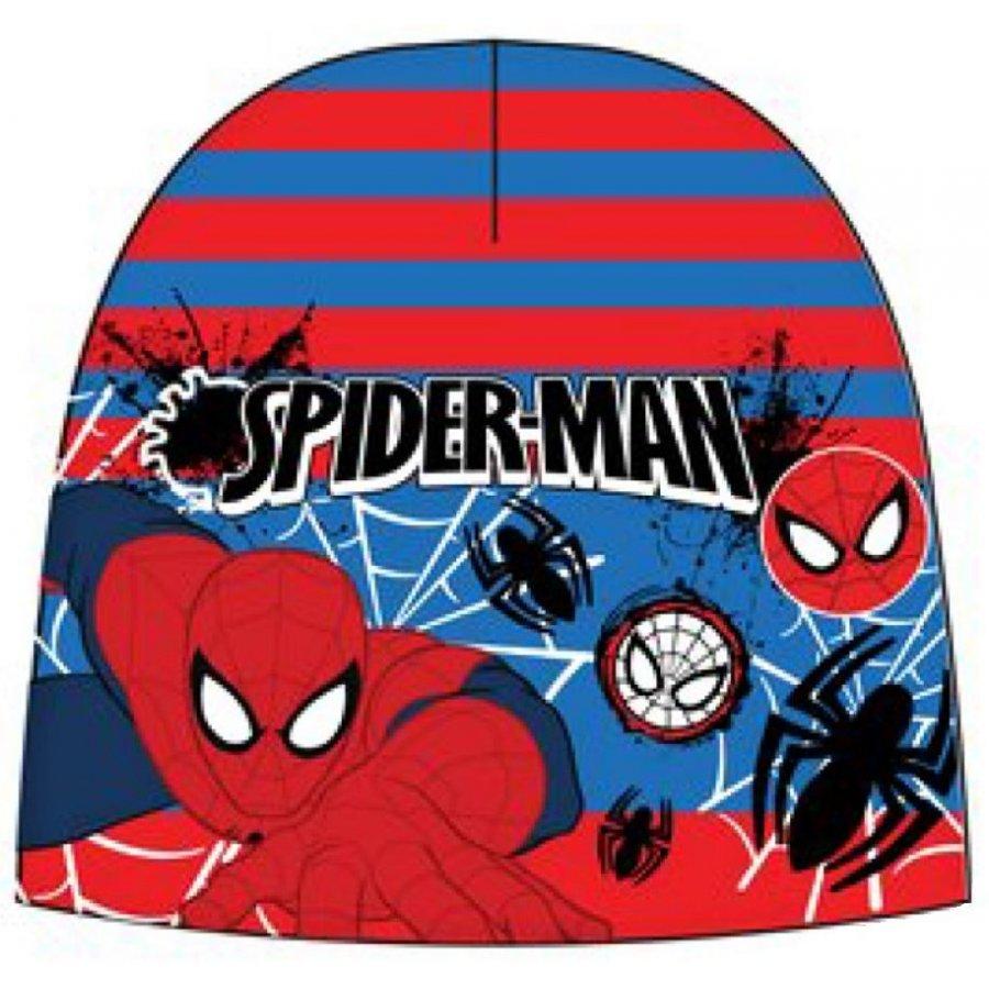 Chlapecká teplá čepice Spiderman - červeno / modrá