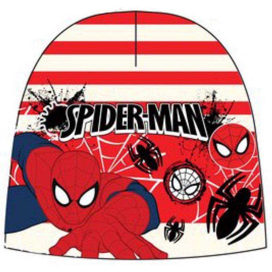 Chlapecká teplá čepice Spiderman - červeno / bílá