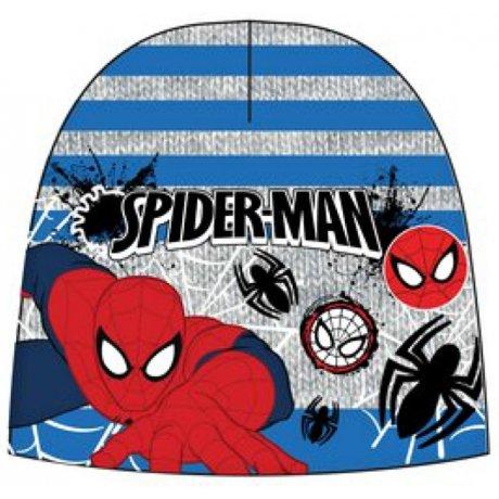 Chlapecká teplá čepice Spiderman - šedo / modrá