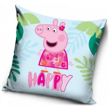 Povlak na polštář Prasátko Peppa - happy