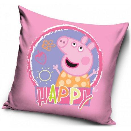 Povlak na polštář Prasátko Peppa - sweet happy