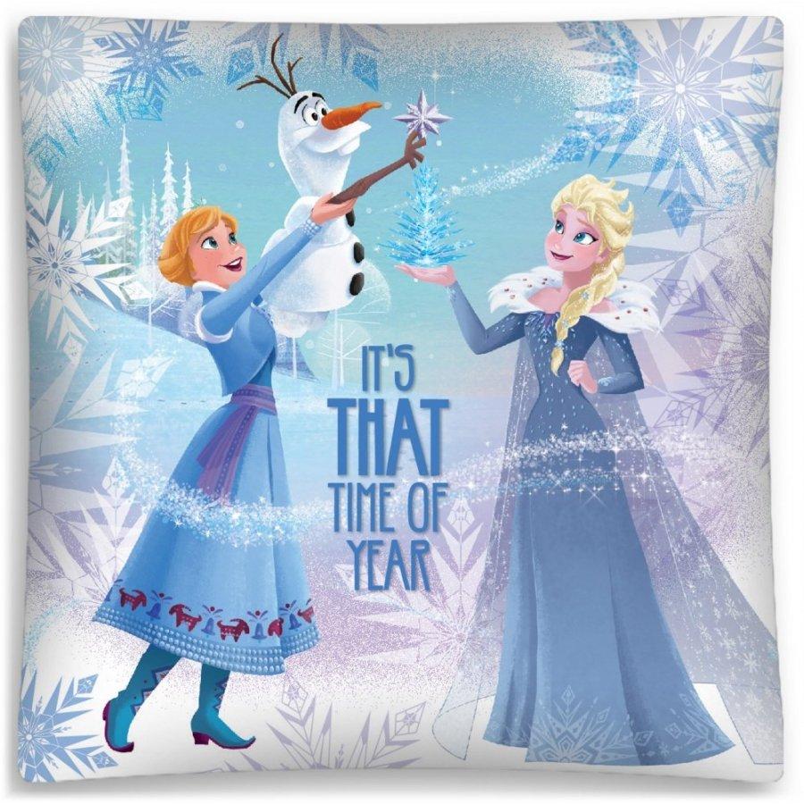Povlak na polštář Ledové království - Anna, Elsa a Olaf