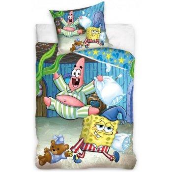 Bavlněné ložní povlečení Spongebob - pyžamová párty