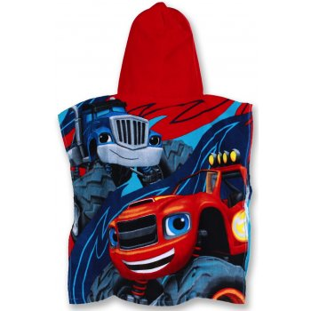 Pončo - osuška s kapucí Monstertruck Plamínek - Blaze