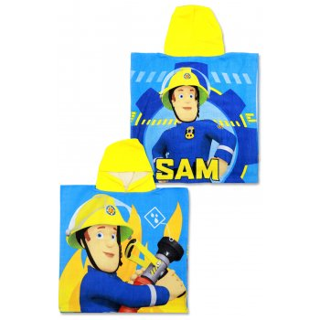 Pončo - osuška s kapucí Hasič Sam - Fireman Sam