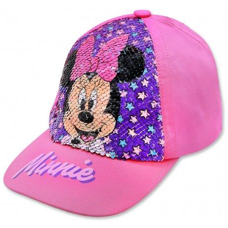 Dívčí kšiltovka Minnie Mouse - Disney s překlápěcími flitry