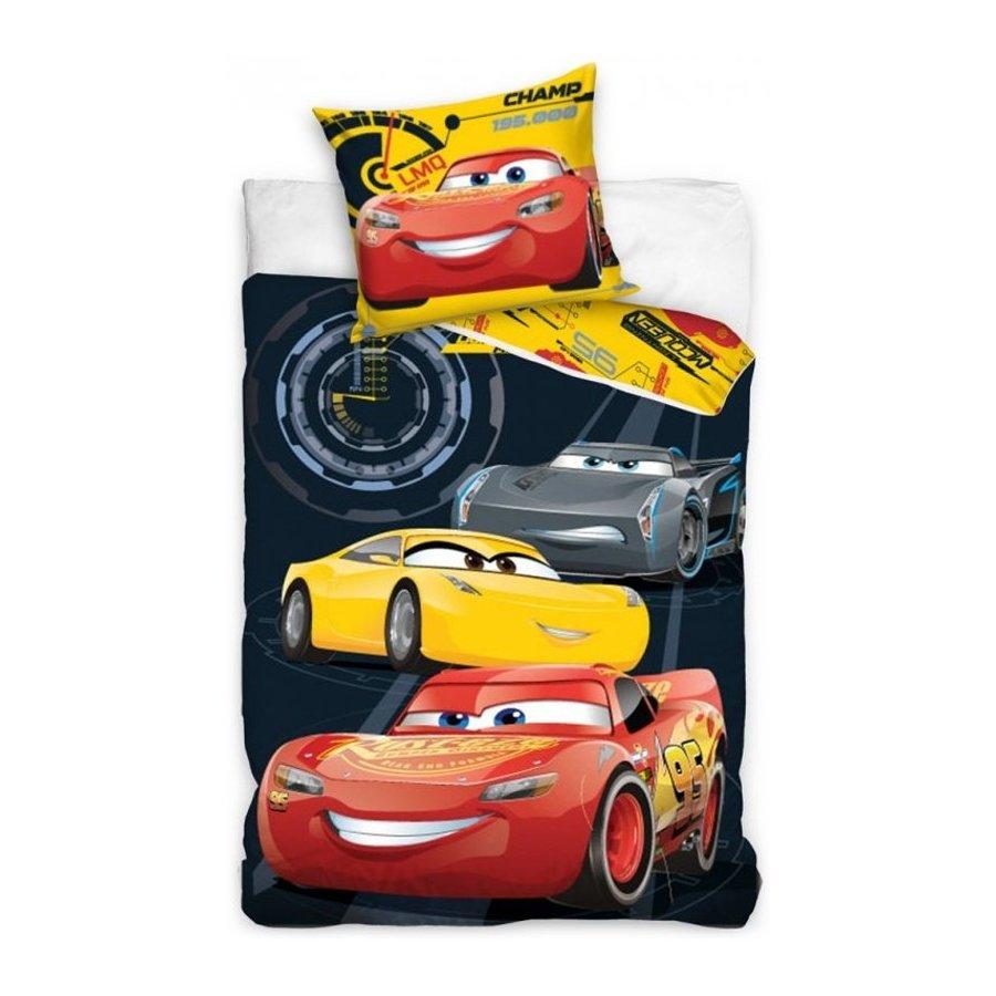 Faro · Dětské bavlněné povlečení Auta 3 - Cars 3 - Blesk McQueen - motiv Tajní agenti - 100% bavlna - 70 x 80 cm + 140 x 200 cm