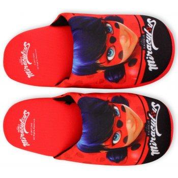 Dívčí pantofle Kouzelná beruška - Ladybug - červené