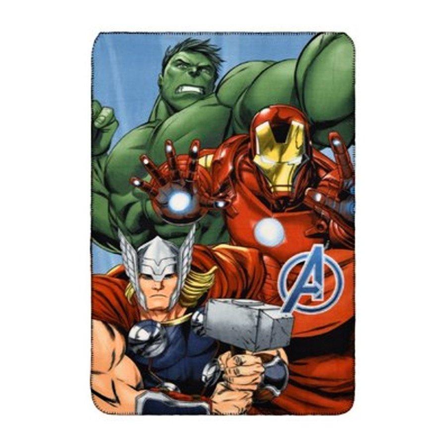 SunCity · Fleecová deka Avengers - Hulk, Iron Man a Thor - 100 x 150 cm