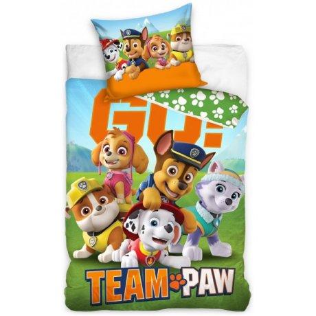 Bavlněné ložní povlečení Tlapková patrola - Team Paw GO!