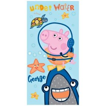 Bavlněná plážová osuška Prasátko Peppa - George potápěč