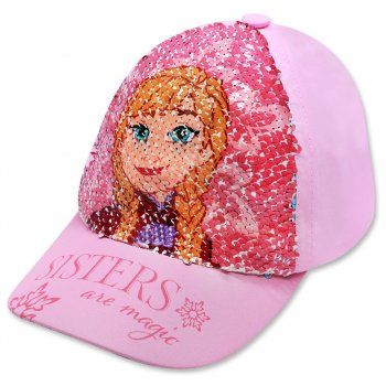 Dívčí kšiltovka Ledové království - Frozen s překlápěcími flitry