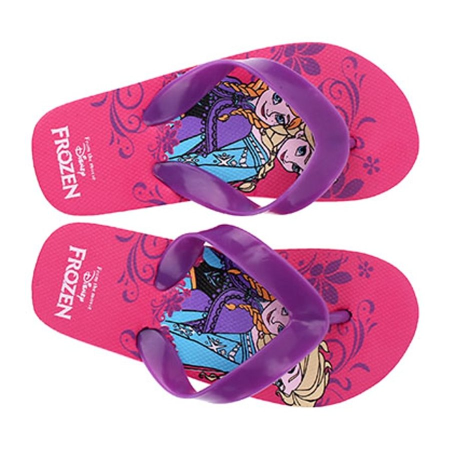 Dívčí plážové žabky Ledové království - Frozen - fialové
