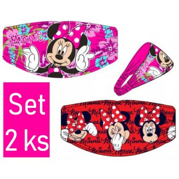 Čelenka do vlasů Minnie Mouse - Disney - set 2ks