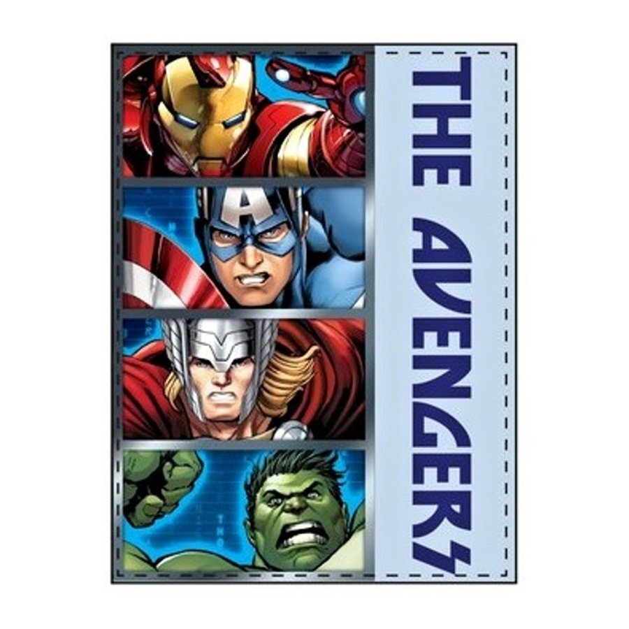 Fleecová deka Avengers - Iron Man, Captain America, Thor a Hulk