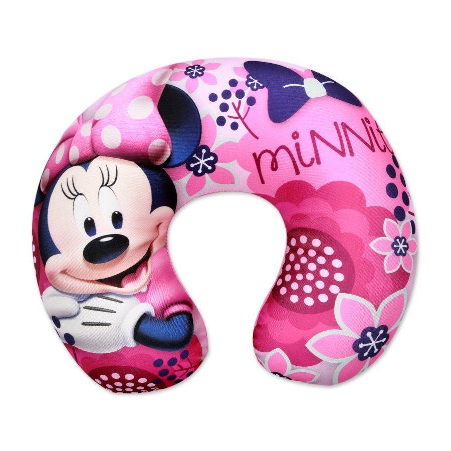 Setino · Cestovní polštář / anatomický polštářek okolo krku - Minnie Mouse - Disney - růžový - 31 x 26 x 8 cm