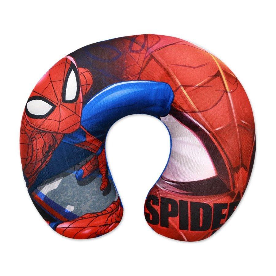 Setino · Cestovní polštář / anatomický polštářek okolo krku Spiderman - MARVEL - 31 x 26 x 8 cm
