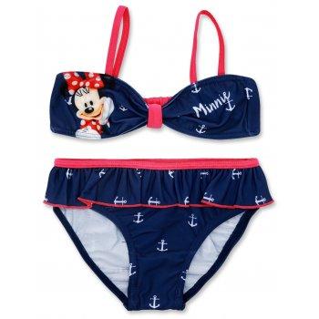 Dívčí dvoudílné plavky Minnie Mouse - modré