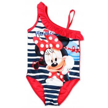 Dívčí jednodílné plavky Minnie Mouse - červené